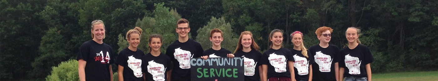 Mrs. Mutschler and the Mill Creek Community Service and Leadership Students