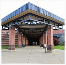 Entrance to Mill Creek Middle School