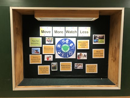 Wellness Bulletin Board at Creekside