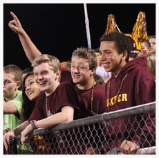 Students Cheering in the Stands at DHS Football Game
