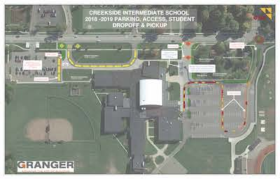 Creekside Intermediate New Student Drop Off Route (smaller version)